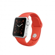 Apple Watch Sport 38mm Silver Aluminum Case with Orange Sport Band (MLCF2)