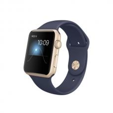 Apple Watch Sport 42mm Gold Aluminum Case with Midnight Blue Sport Band (MLC72)