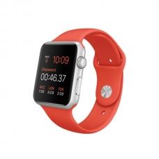 Apple Watch Sport 42mm Silver Aluminum Case with Orange Sport Band (MLC42)
