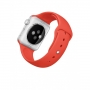 Apple Watch Sport 42mm Silver Aluminum Case with Orange Sport Band (MLC42)