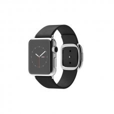 Apple Watch 38mm Stainless Steel Case with Black Modern Buckle Size M (MJYL2)