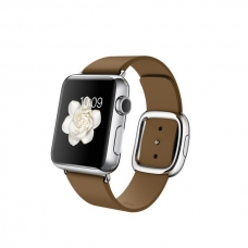 Apple Watch 38mm Stainless Steel Case with Brown Modern Buckle Size M (MJ3D2)