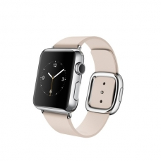 Apple Watch 38mm Stainless Steel Case with Soft Pink Modern Buckle Size M (MJ372)