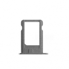Держатель сим (SIM card holder tray) для iPhone 5S silver