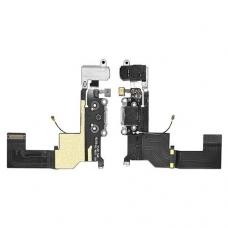 Шлейф с разъемом зарядки и наушников (Charger flex cable with headphone jack) для iPhone 5S white orig