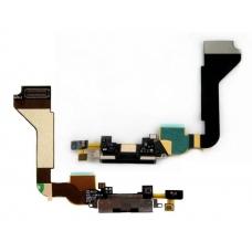 Шлейф с разъемом зарядки (Charger flex cable) для iPhone 4G black orig