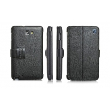 iCarer Genuine leather case for Samsung i9220 Galaxy Note, black (RS922001BK)