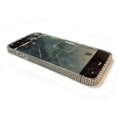 Средняя часть (Middle part) для iPhone 4G gold (с белыми камнями Swarovski) orig