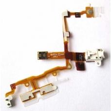 Шлейф с разъемом наушников, кн.громкости (audio flex cable) для iPhone 3G/3GS white orig